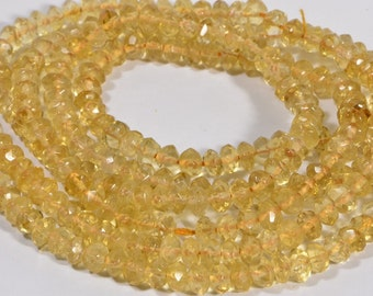 Citrine Beads 4.8x3mm  Faceted Natural Gemstone Beads Jewelry Making Supplies