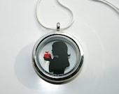 Snow White Papercut Pendant Necklace- Version 1