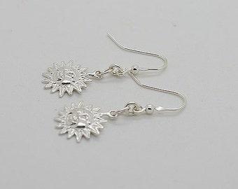 Sun Sterling Silver Earrings