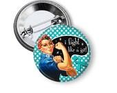 Ovarian cancer awareness pinback button badge or magnet