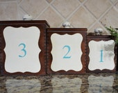 Vintage Wooden Canister Set ....Updated with Chalkpaint & Numbers