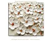 White Flowers - Limited Edition - Large Abstract Art Giclee on canvas Home Decor Wall Art Paula Nizamas