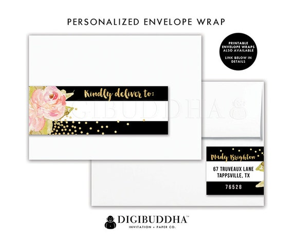 ENVELOPE WRAP LABELS Envelope Wrap Address Label Sticker Around