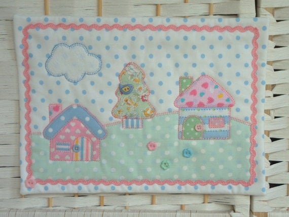 Mini quilt nursery hanging fabric picture by for Nursery fabric uk