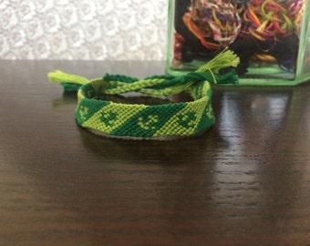 Green Anchor Friendship Bracelet