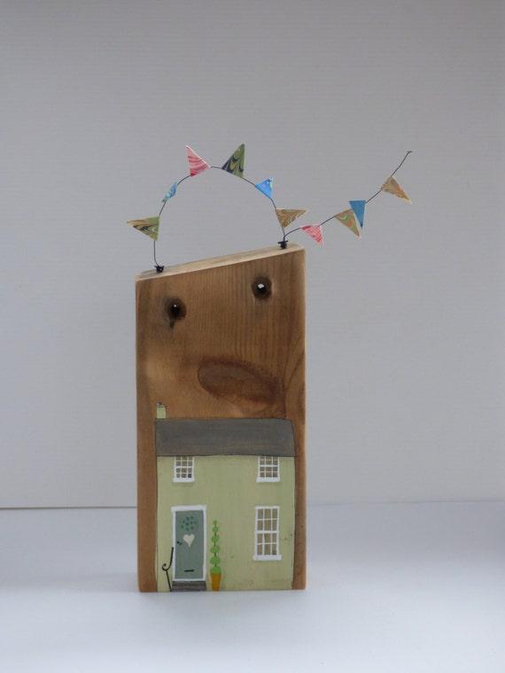 Articoli simili a decorazione domestica casa di legno for Regalo x casa nuova