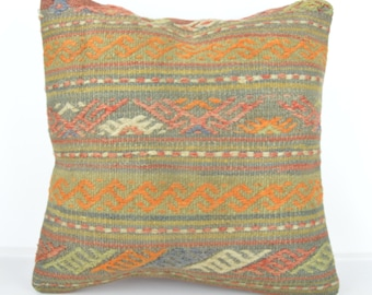 Kilim pillow, Kilim Pillow Cover k545, Turkish Pillow, Kilim Cushions, Bohemian Decor, Moroccan Pillow,  Bohemian Pillow, Turkish Kilim