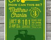 Oh Deere Tractor Invitation