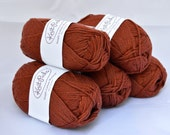 Organic Cotton Yarn, Knitting Supplies, Knit Picks Simply Cotton Worsted, Rust