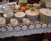 Vintage 57 Piece ~ SYRACUSE China USA Dinnerware Set in ALPINE Circa 1950s