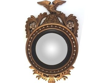 Federal-Style Convex Mirror, Eagle, Bulls Eye
