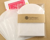 """3.5"""" x 3.5"""" Glassine Envelopes with Flap - Use for Wedding Favors, Bridal Shower Favors & Baby Shower Favors, Party Gifts, Valentines Day"""