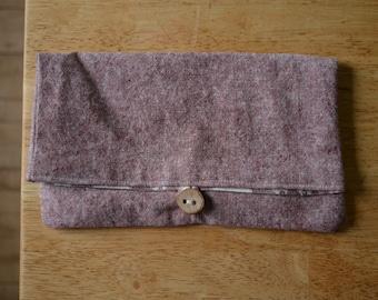 linen and cotton pencil pouch
