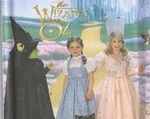 Wizard Of Oz Witch Fairy Princess Queen Halloween Girls Size 3 4 5 6 7 8 Childrens Costume Sewing Pattern 1997 Simplicity 7801