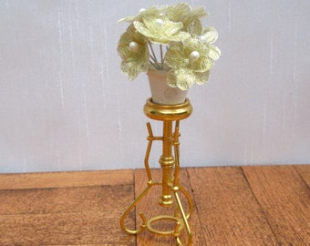 Miniature Plant Stand Dollhouse Plant Stand Vintage Miniature Flower Stand Dollhouse Brass Stand 12th Scale Plant Stand Dollhouse Vase Stand