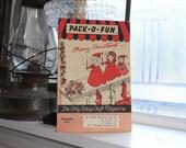Vintage 1950s Pack-O-Fun Crafts Book Scrap Craft Magazine December 1958