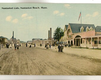 Vintage Postcard, Nantasket Beach, Massachusetts, Nantasket Cafe, ca 1910