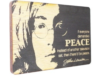 If everyone demanded peace instead of another television set then there would be peace. ~ John Lennon. Inspirational Quotes, Life Quotes