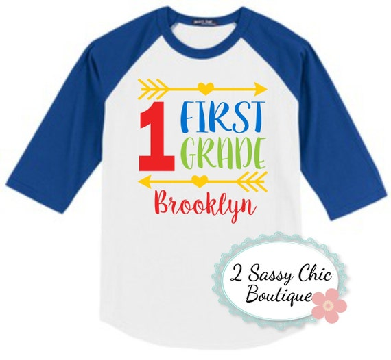 First Grade Back To School Raglan Shirt By 2sassychicboutique