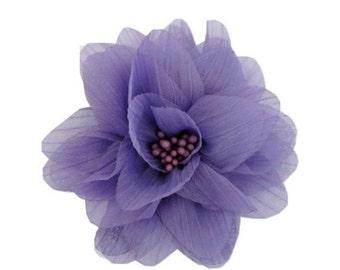 "Sale Light Purple Chiffon Flower. 4"" Light Purple Chiffon Flower. ISLA Collection. A3-SF-002J"