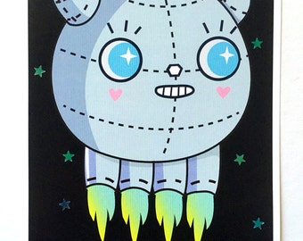 Lililo Robo-Squid Kawaii Print