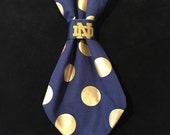 Notre Dame Theme Dog Tie Slide On ... THE TIE !!!!