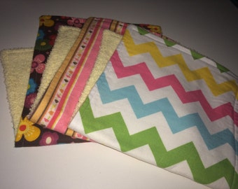 Set of Three Burp Cloths with Monogram