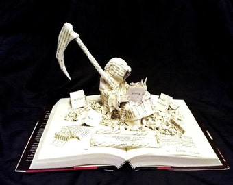 Custom Book Sculpture--paper sculptures out of your favorite story