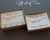 Mother of the bride & Groom gift set, HUGE SALE gold filled  infinity link 24K gold over silver elegant, white pearl, classic mob mog simple