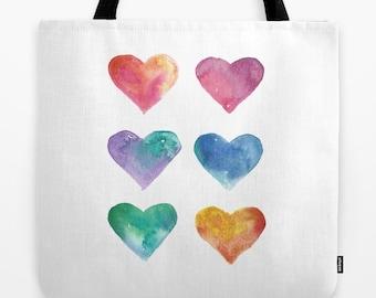 TOTE, Watercolor Artwork Tote Bag, Original Art Tote, Three Sizes, Beautiful and Durable