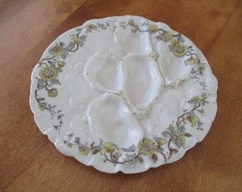 Antique Haviland & Co. Limoges Porcelain Oyster Plate