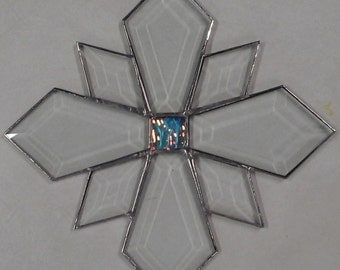 Stained Glass Bevel Star 6x6""