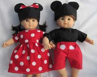 Bitty Baby Twin Mickey & Minnie Mouse Outfits