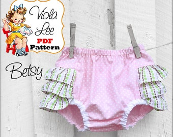 Baby Bloomer Pattern. Ruffled Bloomer Pattern. Baby Diaper Cover. pdf Bloomer Pattern. Girl's Sewing Pattern. Nappy Cover. Baby Pants. Betsy