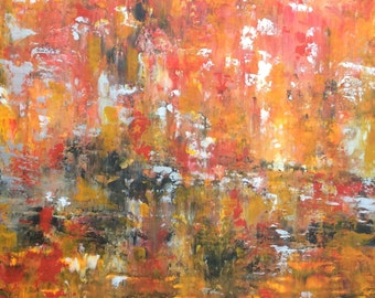 "Abstract Landscape 'Inside My Head #2' - acrylic painting on canvas - size 50cm x 50cm (20"" x 20"")"