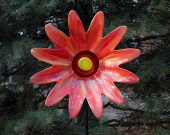 Handmade Repurposed Garden art, Garden Sculpture, Repurposed Décor and Glass Yard Art sun catcher
