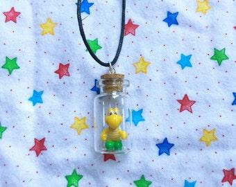 READY TO SHIP, Green Koopa Troopa in a Bottle Necklace
