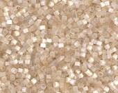 DB0673, MIYUKI DELICA BEAD, 11/0 Antique Ivory Silk Satin, 5g, 10g, 15g, Delica Beads