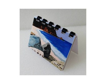 "Mini Monthly Desk - Pocket - Wallet - Calendar and planner - 3.5"" x 2.5"""