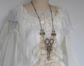 Doll Maker: Victorian Chatelaine Chain Scissors Necklace
