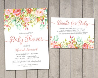 Floral Baby Shower Invitation DIY (Printable) by Vintage Sweet