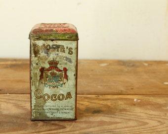Antique Tin Droste's Cocoa Holland Tin Collection Display