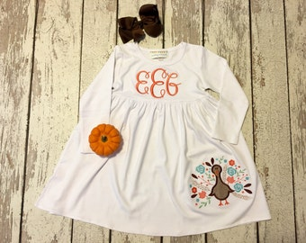girls thanksgiving dress, girls thanksgiving dress, girls turkey dress, toddler turkey dress, girls turkey outfit, thanksgiving dress