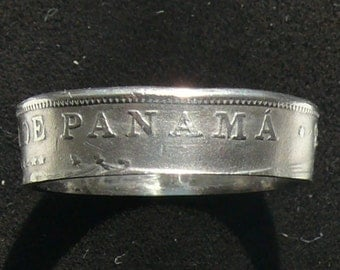 1968 Panama 5 Centesimos Coin Ring, Ring Size 7 and Double Sided
