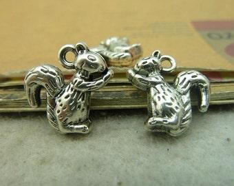 10pcs 5*15*18mm antique silver  squirrel animal charms pendant  C4365