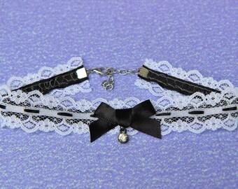 Black and White Lace Choker