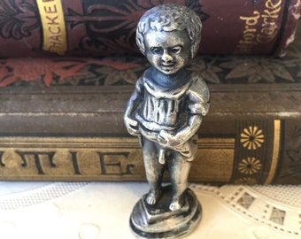 Most Unusual Victorian Era Wax Seal-Little Boy Exposing Himself