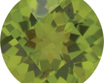 Natural Green Peridot Gemstone Round Size 6.5 mm, 7 mm, 8 mm