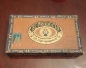Vintage El Producto Bouquet Cigar Boxc. 1940