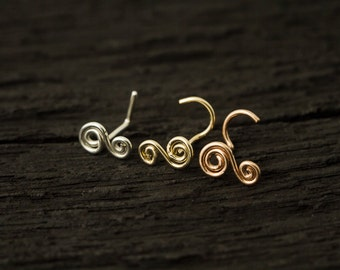 Double coils nose stud/nose screw/nose ring